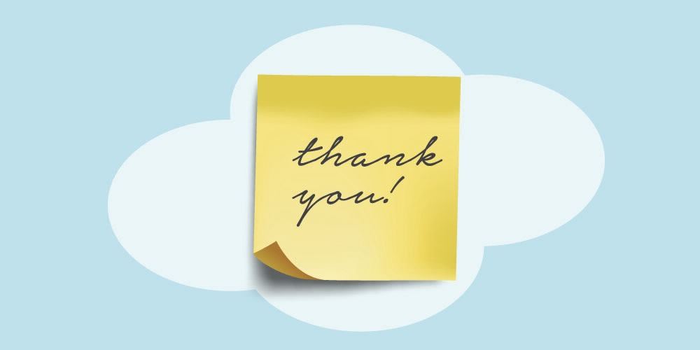 gratitude post it thanks