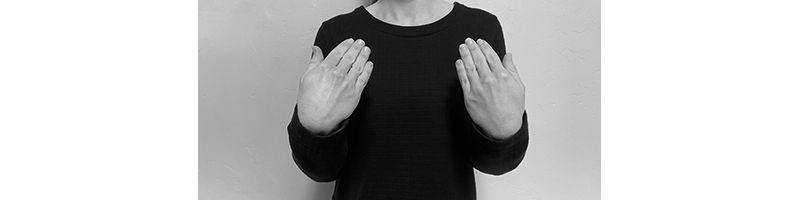 palms towards self